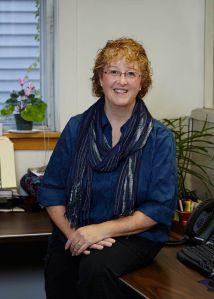 Lynn, the Draper Knitting Office Manager aka Becky for the week